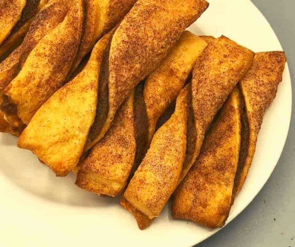 Air Fryer Pumpkin Pie Twists