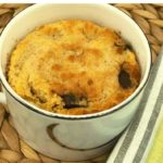 Air Fryer Chocolate Chip Mug Cake