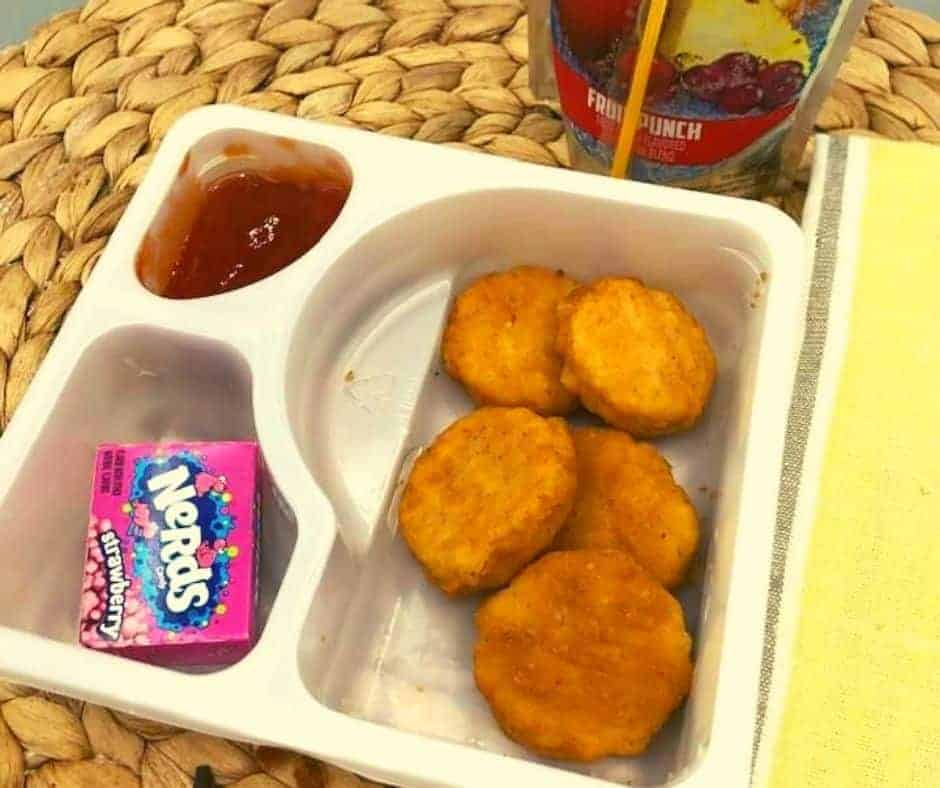 Air Fryer Lunchable Chicken tenders