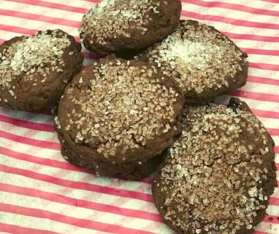 Air Fryer Chocolate Sugar Cookies