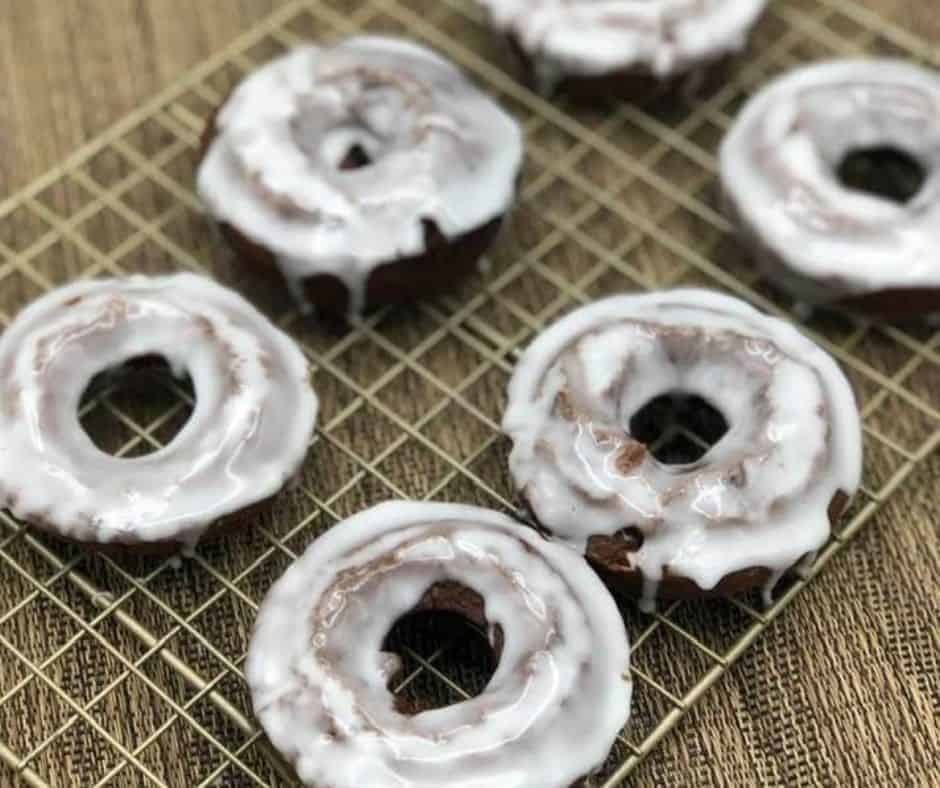 Air Fryer Chocolate Donuts