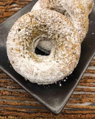 Air Fryer Lemon Poppy Seed Donuts