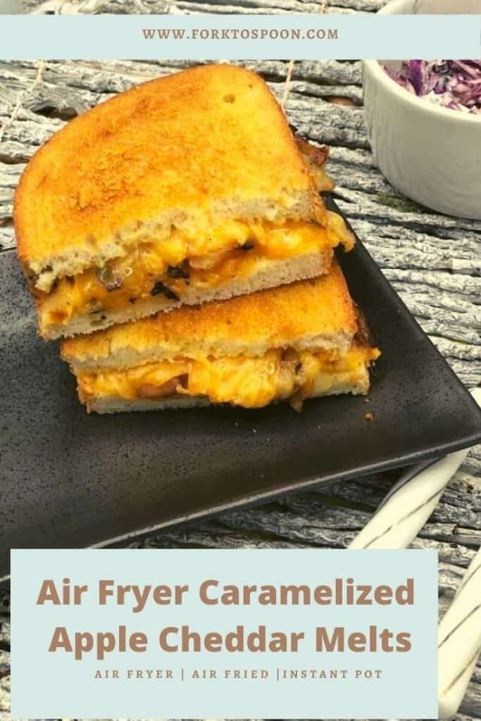 Air Fryer Caramelized Apple Cheddar Melts