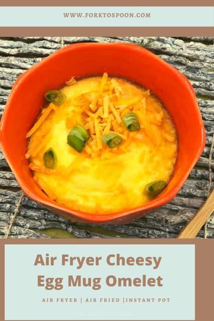 Air Fryer Cheesy Egg Mug Omelet