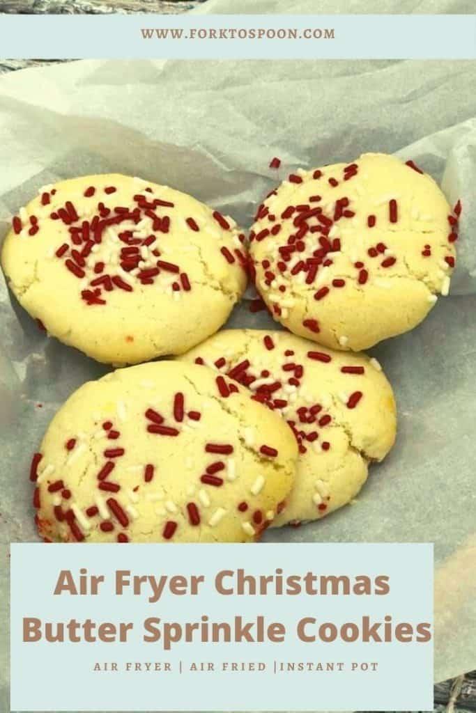 Air Fryer Christmas Butter Sprinkle Cookies