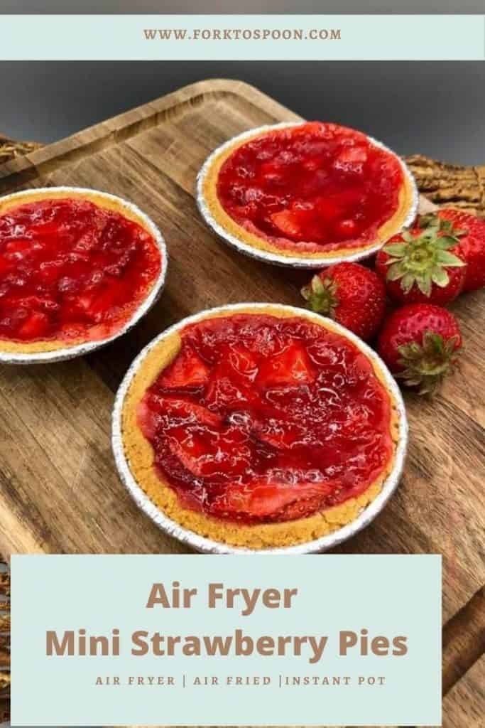 Air Fryer Mini Strawberry Pies