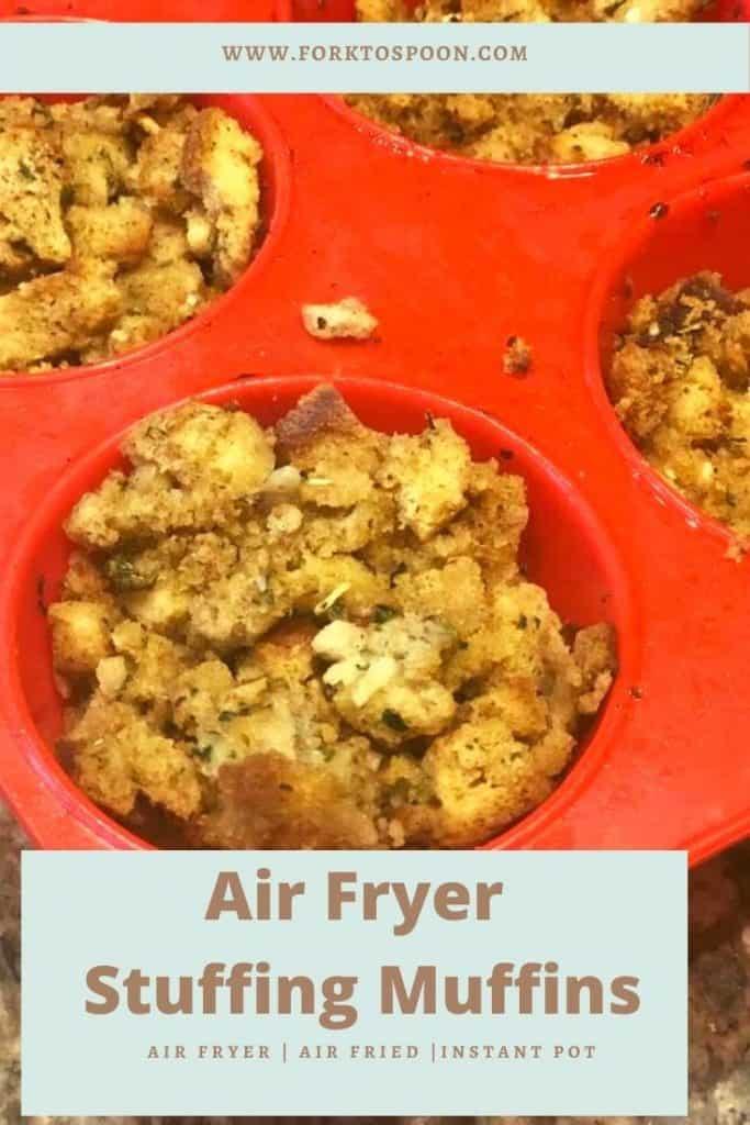 Air Fryer Stuffing Muffins