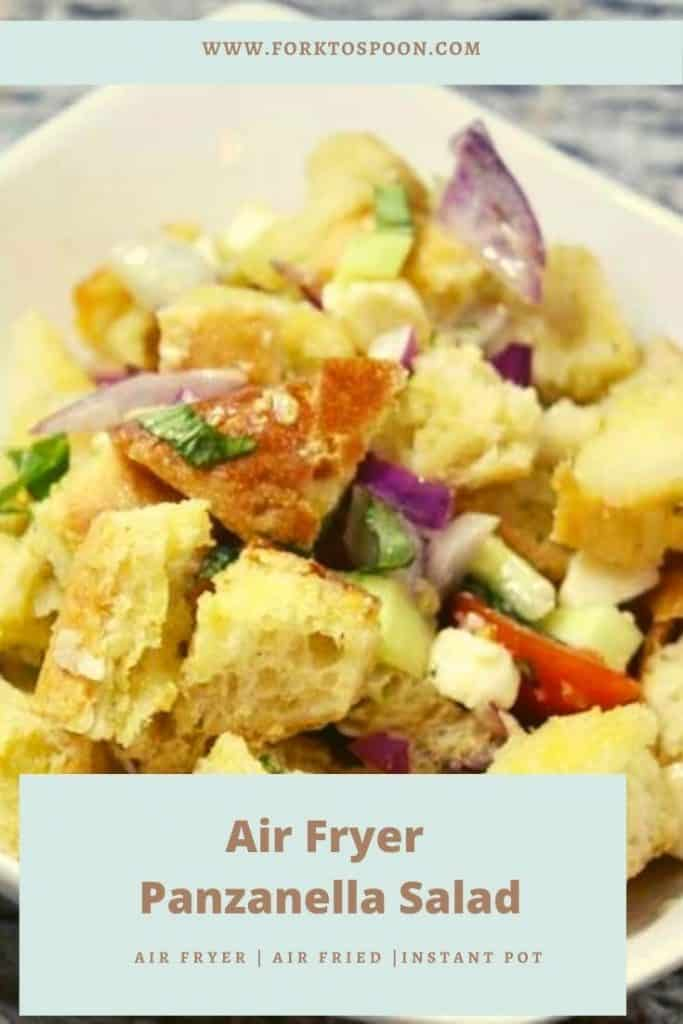 Air Fryer Panzanella Salad