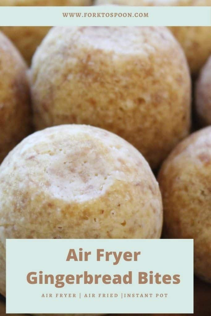 Air Fryer Gingerbread Bites