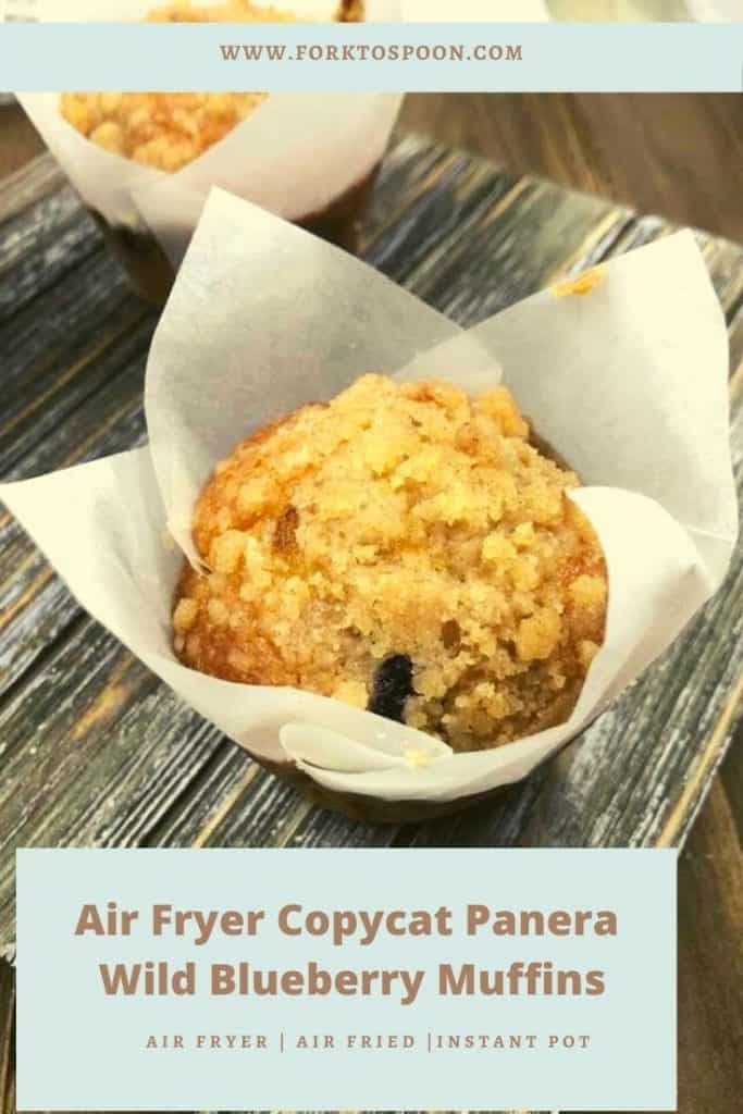 Air Fryer Copycat Panera Wild Blueberry Muffins