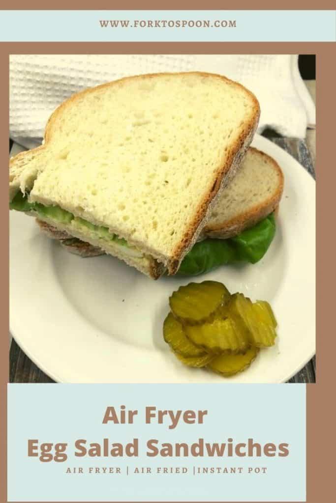 Air Fryer Egg Salad Sandwiches
