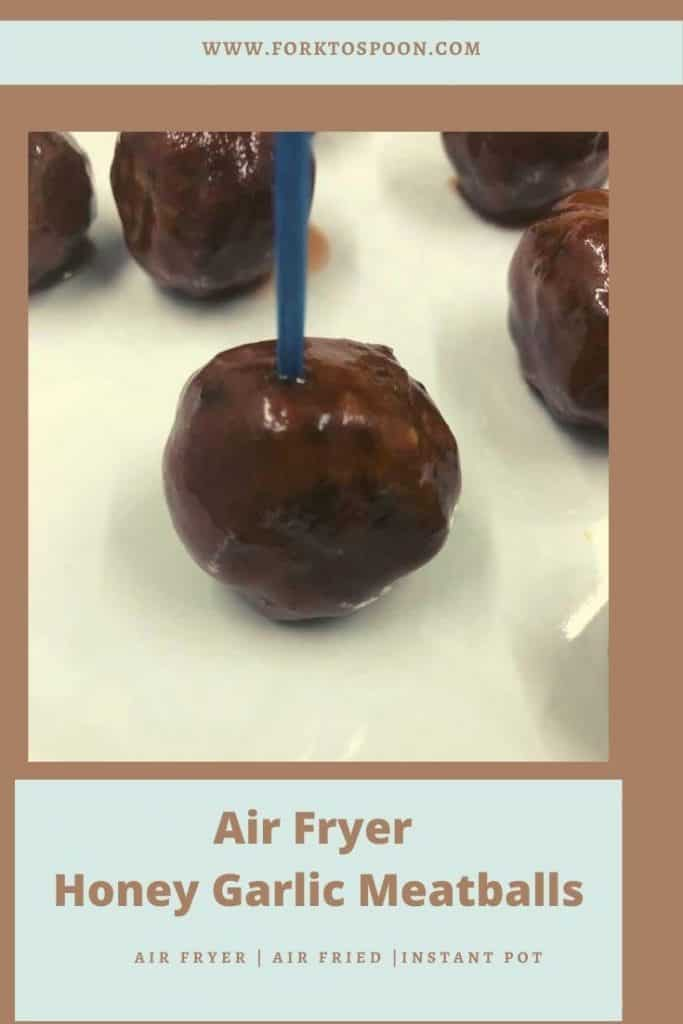 Air Fryer Honey Garlic Meatballs
