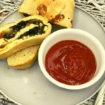 Air Fryer Spinach and Feta Stromboli