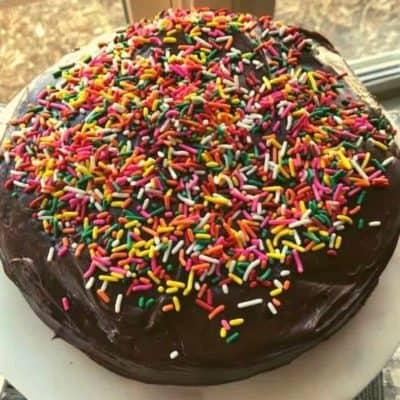 Air Fryer Yellow Cake