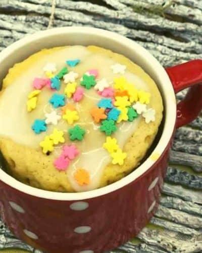 Air Fryer Vanilla Mug Cake