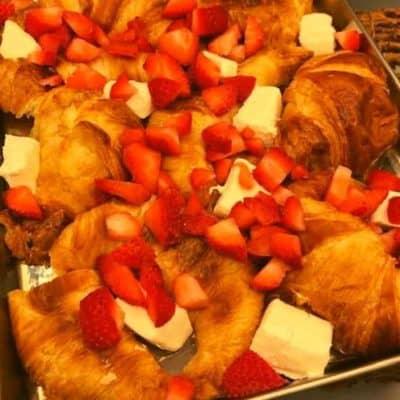 Air Fryer Strawberry Croissant