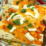Air Fryer Cheesy Beef Enchiladas