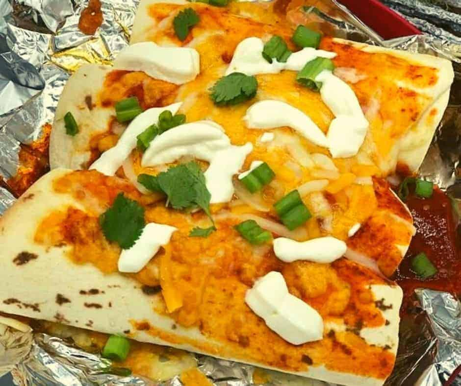 Air Fryer Cheesy Beef Enchiladas