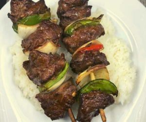 Air Fryer Beef Kabobs