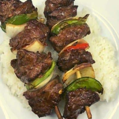 Air Fryer Beef Kabobs