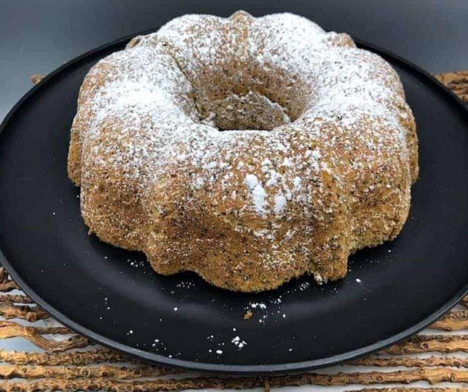 Air Fryer Lemon Poppy Seed Bundt Cake