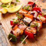 Air Fryer Salmon Kebabs