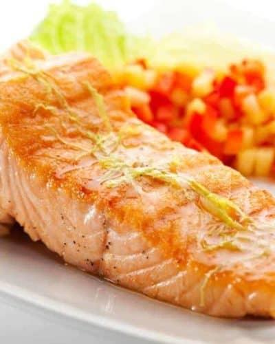Air Fryer Salmon with Honey Mustard Sauce