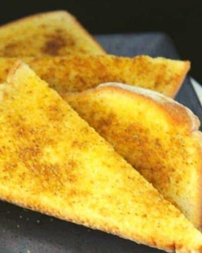 Air Fryer Old Bay Garlic Bread
