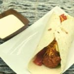 Air Fryer Easy Buffalo Chicken Wrap