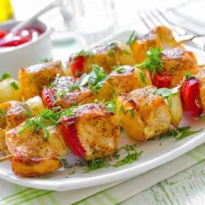 Air Fryer Grilled Chicken Kebabs