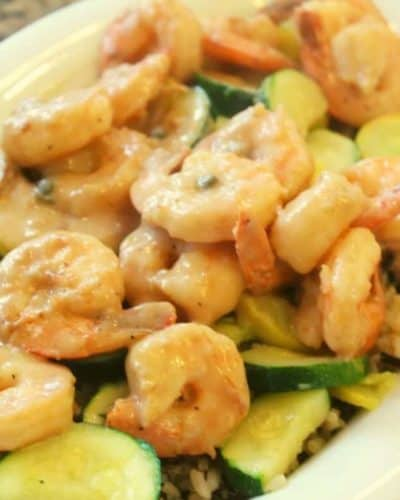 Air Fryer Cream Garlic Shrimp