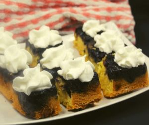 Air Fryer Blueberry Upside Down Cake
