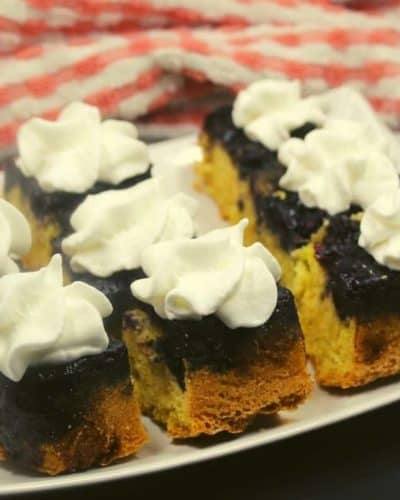 Air Fryer Blueberry Upside Down Cake