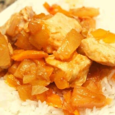 Air Fryer Hobo Dinner Sweet and Sour Chicken