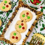 Air Fryer Christmas M&M Cookies