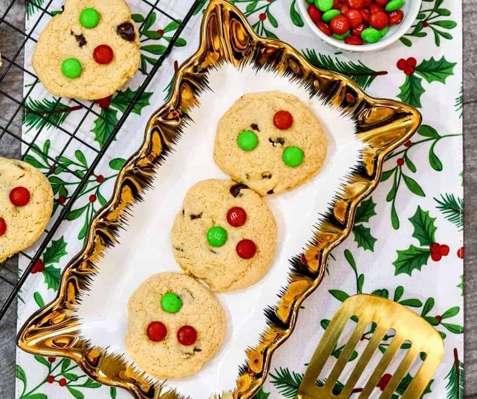 Air Fryer Christmas M&M Cookies
