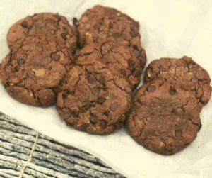 Air Fryer Chocolate Hazelnut Cookies