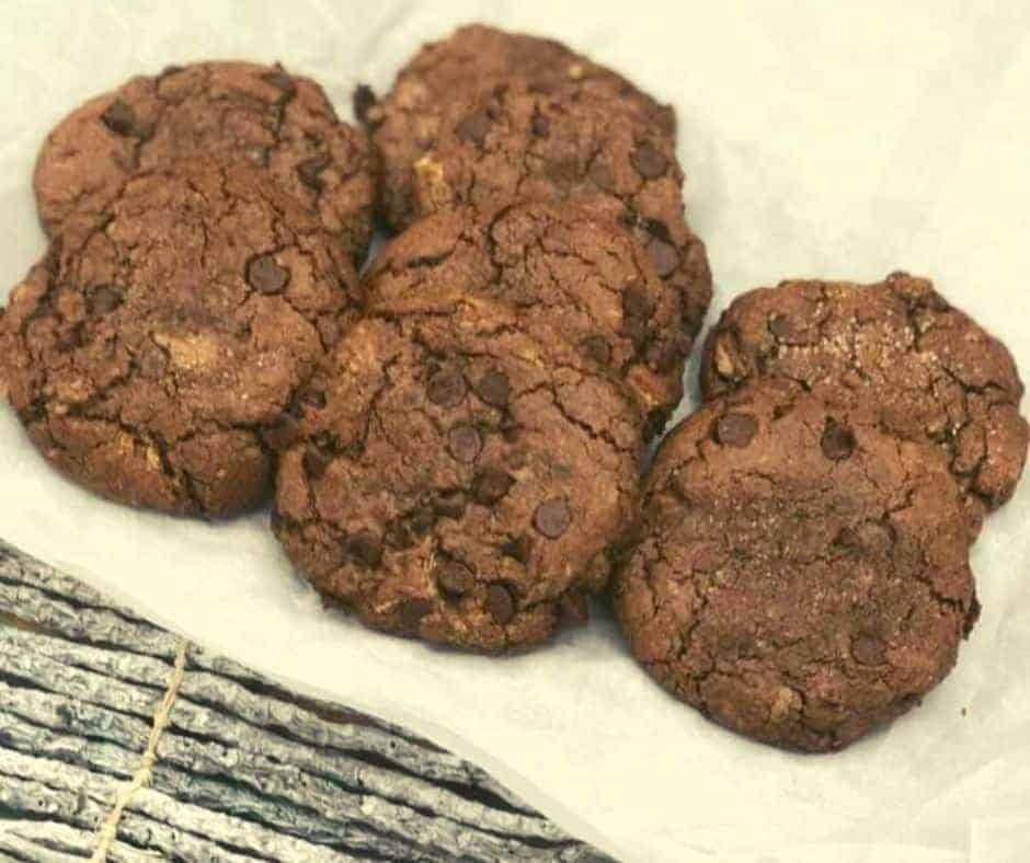 Air Fryer Chocolate Hazelnut Cookies