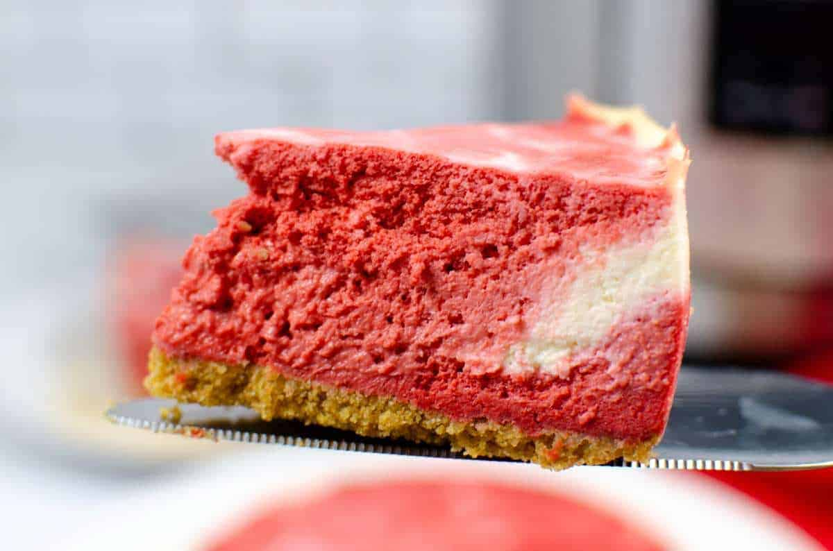 Instant Pot Christmas Swirl Cheesecake
