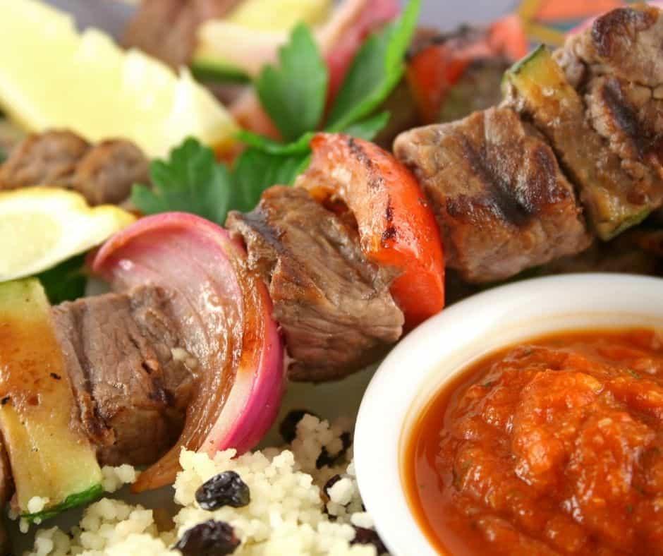 Air Fryer Beef Kebabs