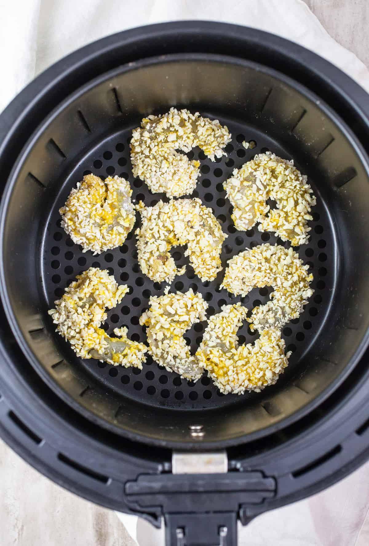 Air Fryer Fried Shrimp in Air Fryer Basket