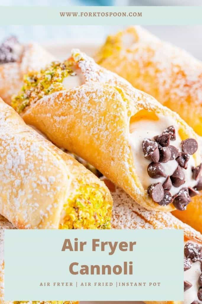 Air Fryer Cannoli