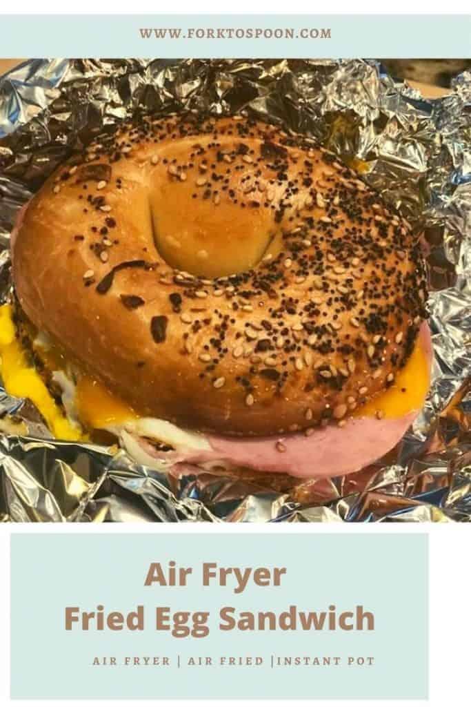 Air Fryer Fried Egg Sandwich