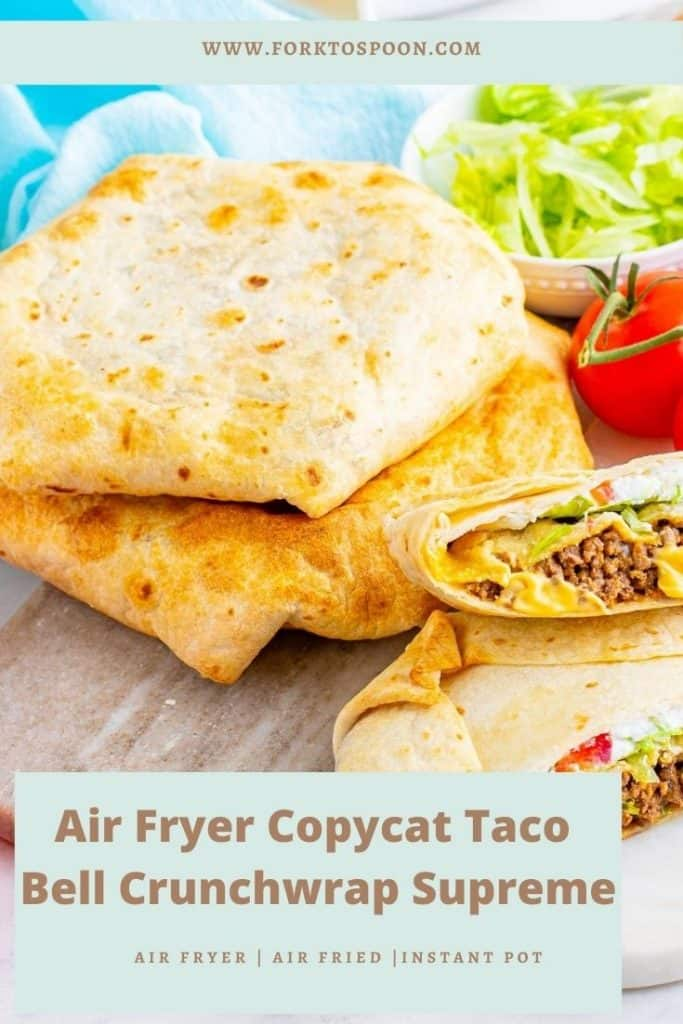 Air Fryer Copycat Taco Bell Crunchwrap Supreme