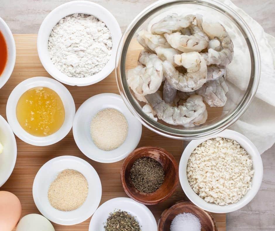 Ingredients Needed For Air Fryer Crispy Shrimp