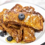 Air Fryer French Toast Sticks on Plate