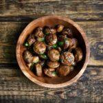 Air Fryer Garlic Mushrooms