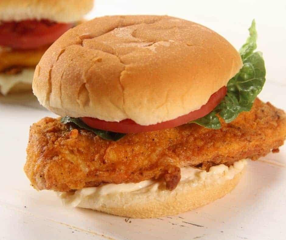 Air Fryer Wendy's Spicy Chicken Sandwich