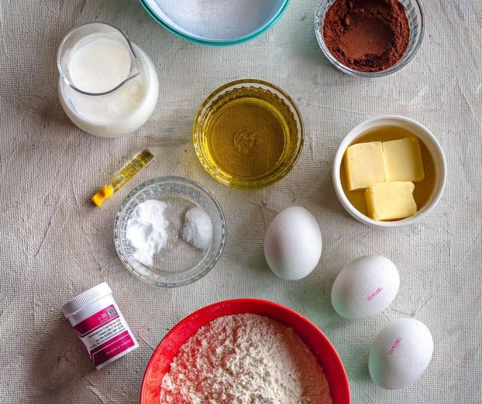 Ingredients Red Velvet Cake