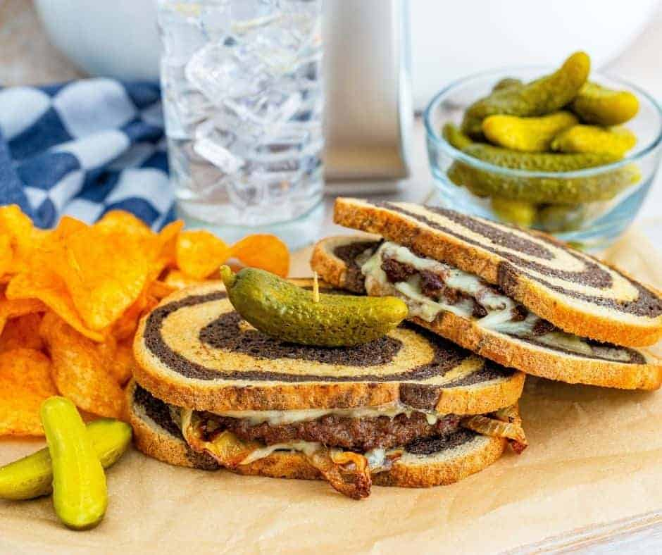 Air Fryer Patty Melt